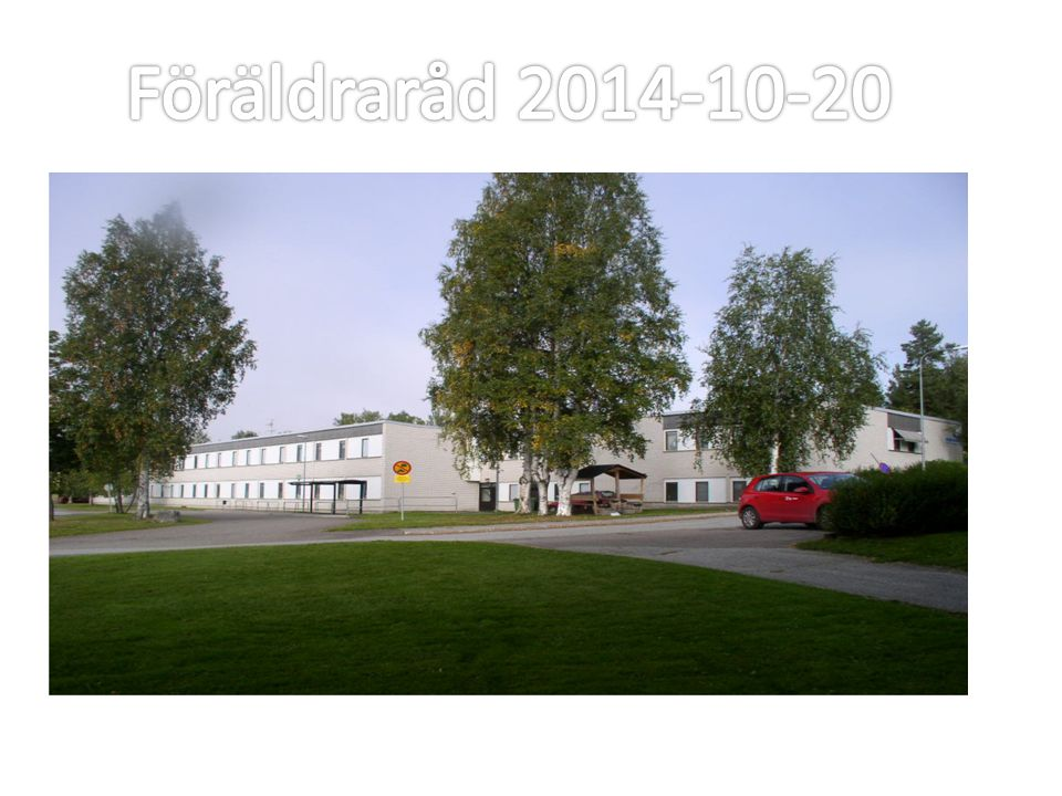 Föräldraråd 2014-10-20