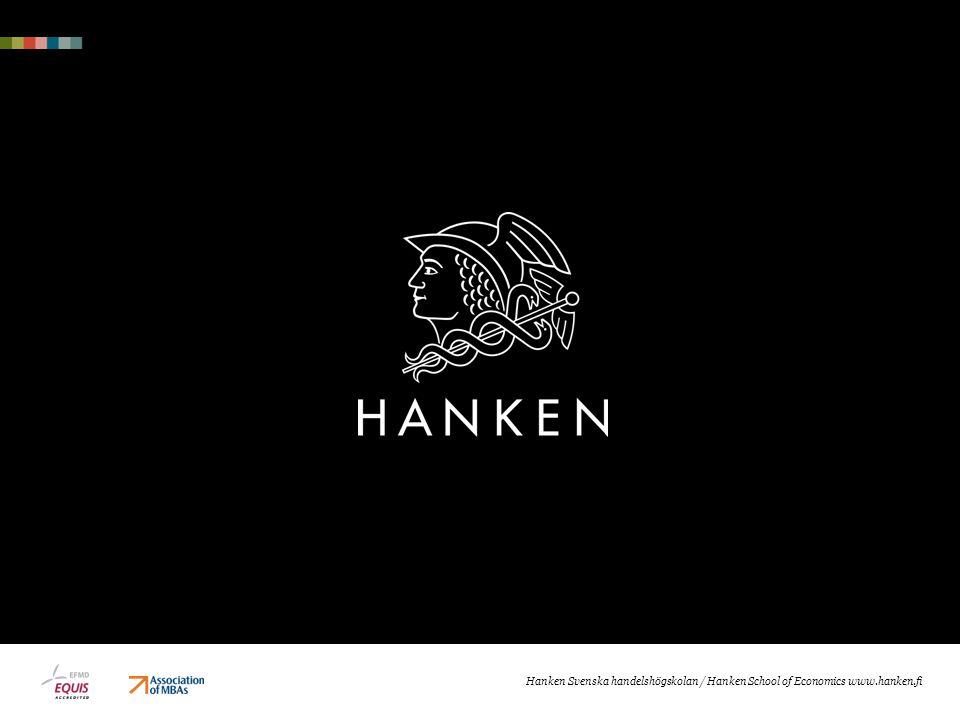 Hanken Svenska handelshögskolan / Hanken School of Economics www