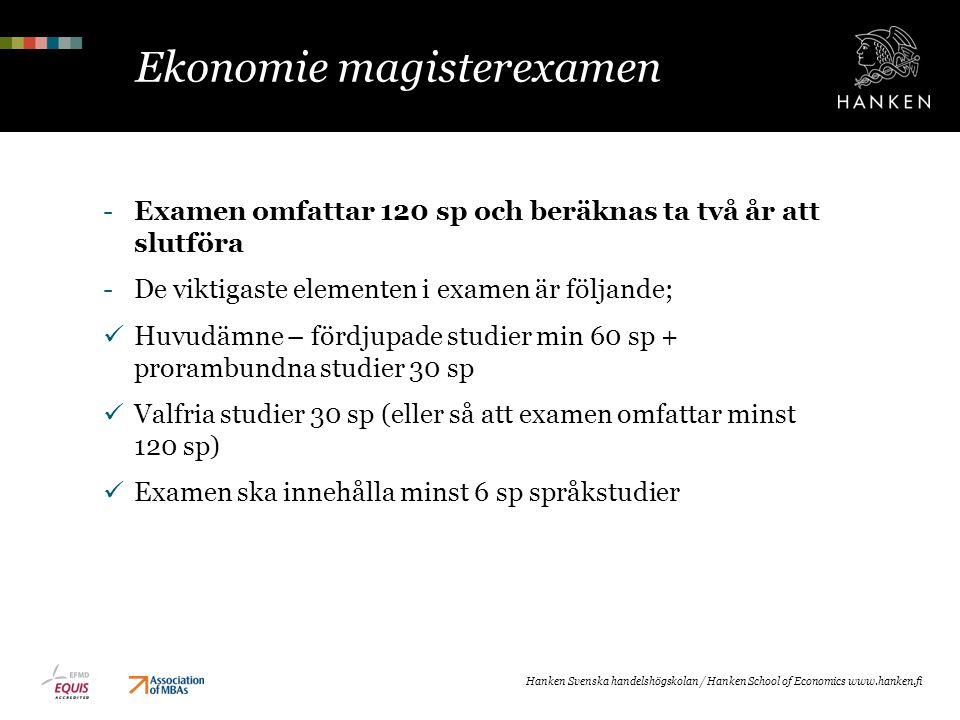Ekonomie magisterexamen
