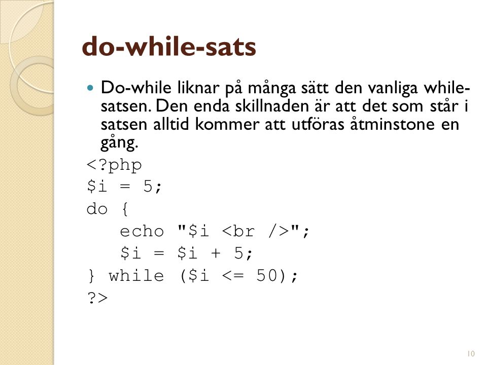 do-while-sats