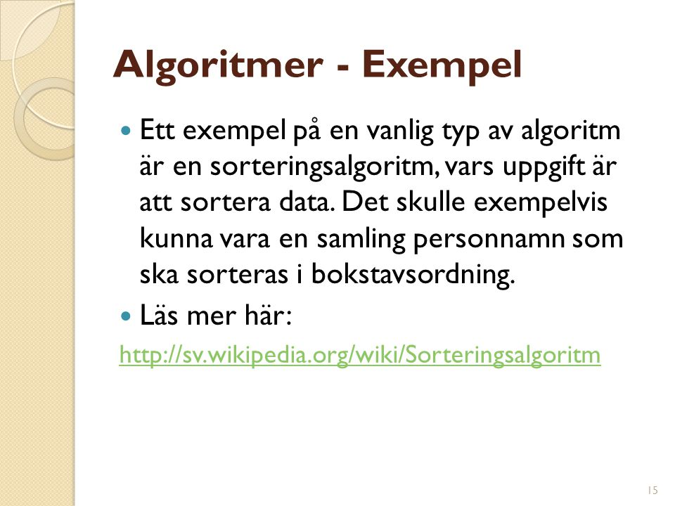 Algoritmer - Exempel