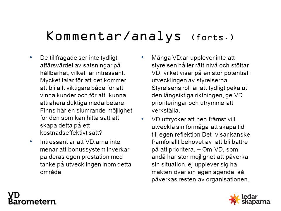 Kommentar/analys (forts.)
