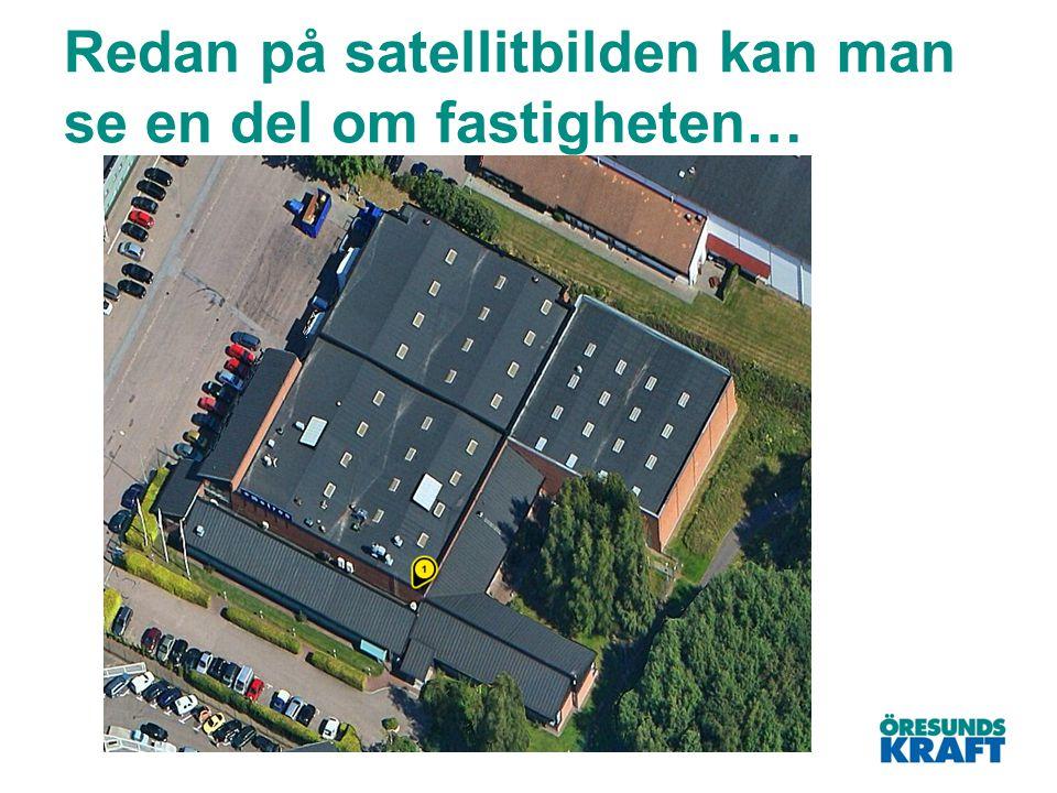 Redan på satellitbilden kan man se en del om fastigheten…