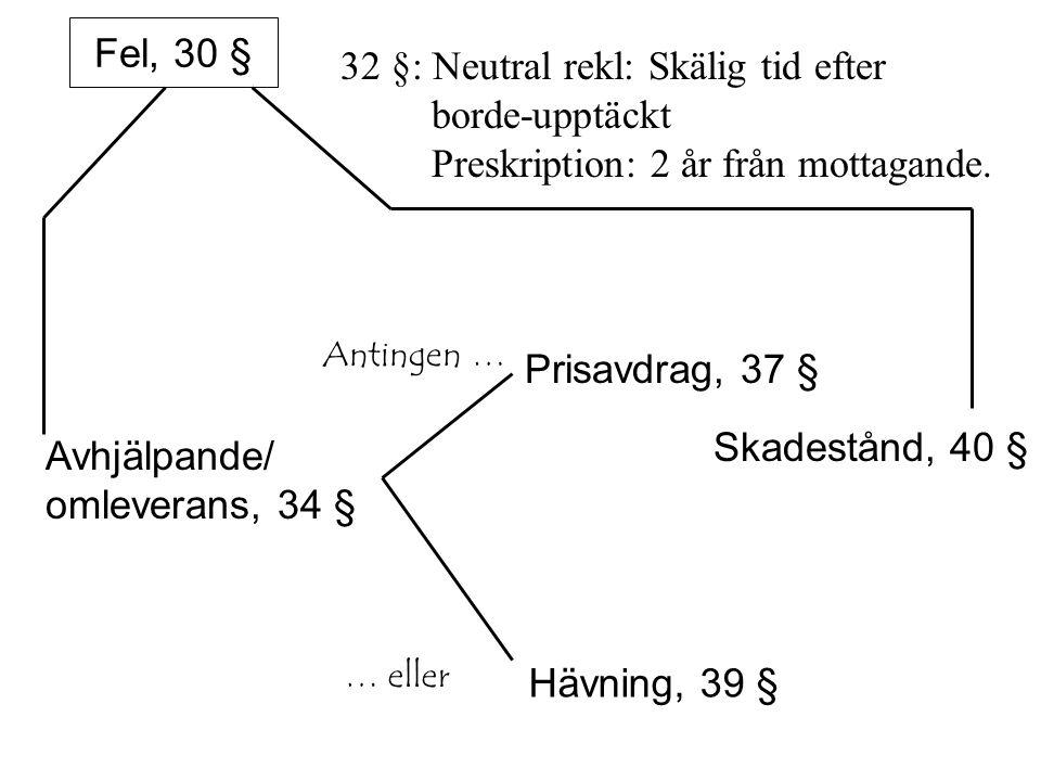 Avhjälpande/ omleverans, 34 §