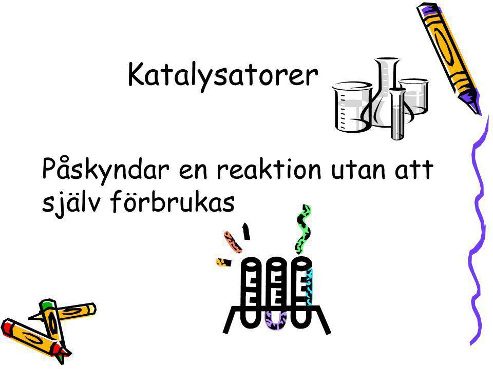 Katalysatorer Påskyndar en reaktion utan att själv förbrukas