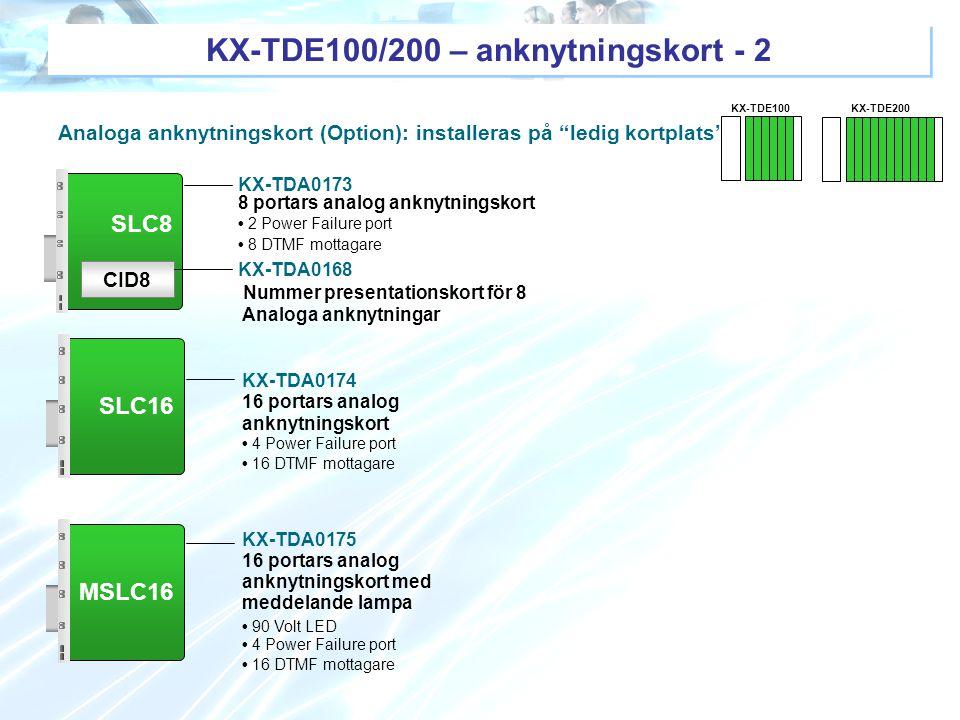 KX-TDE100/200 – anknytningskort - 2
