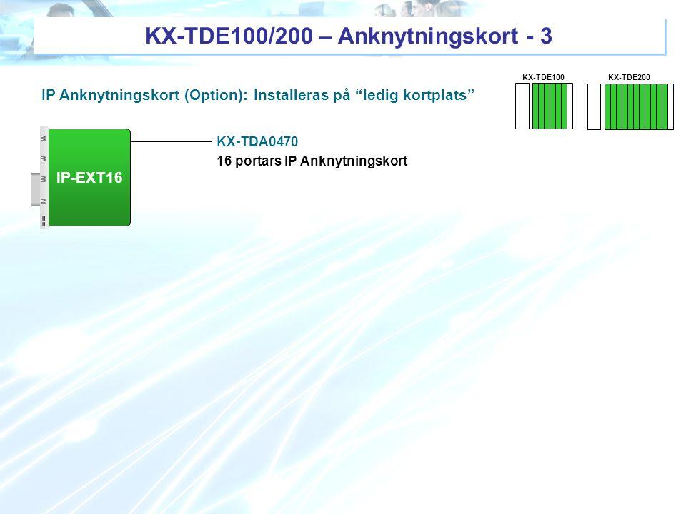 KX-TDE100/200 – Anknytningskort - 3