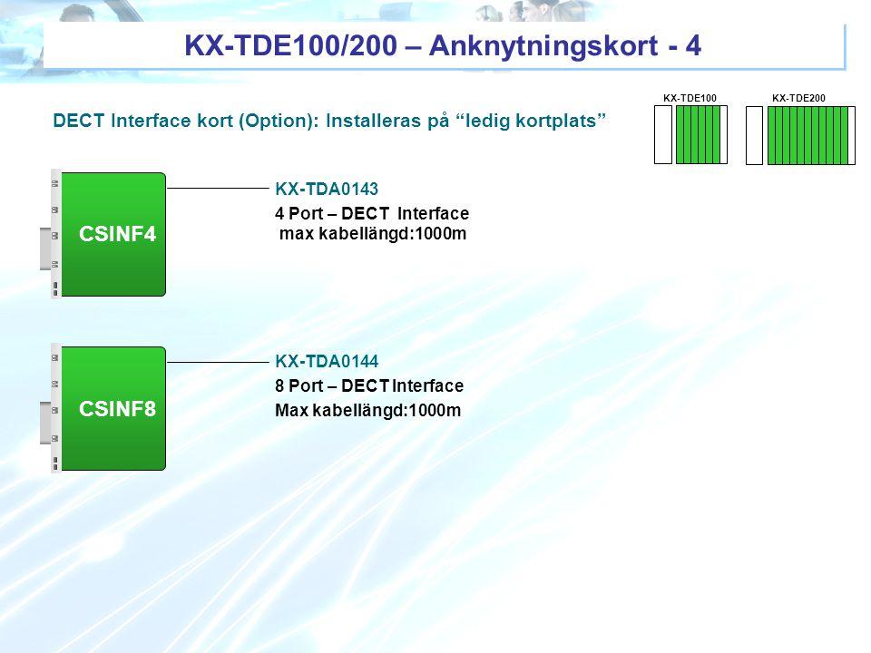 KX-TDE100/200 – Anknytningskort - 4