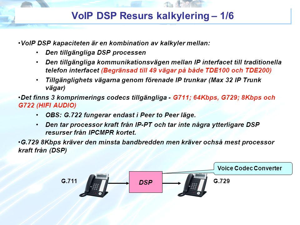VoIP DSP Resurs kalkylering – 1/6