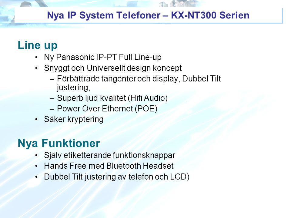Nya IP System Telefoner – KX-NT300 Serien