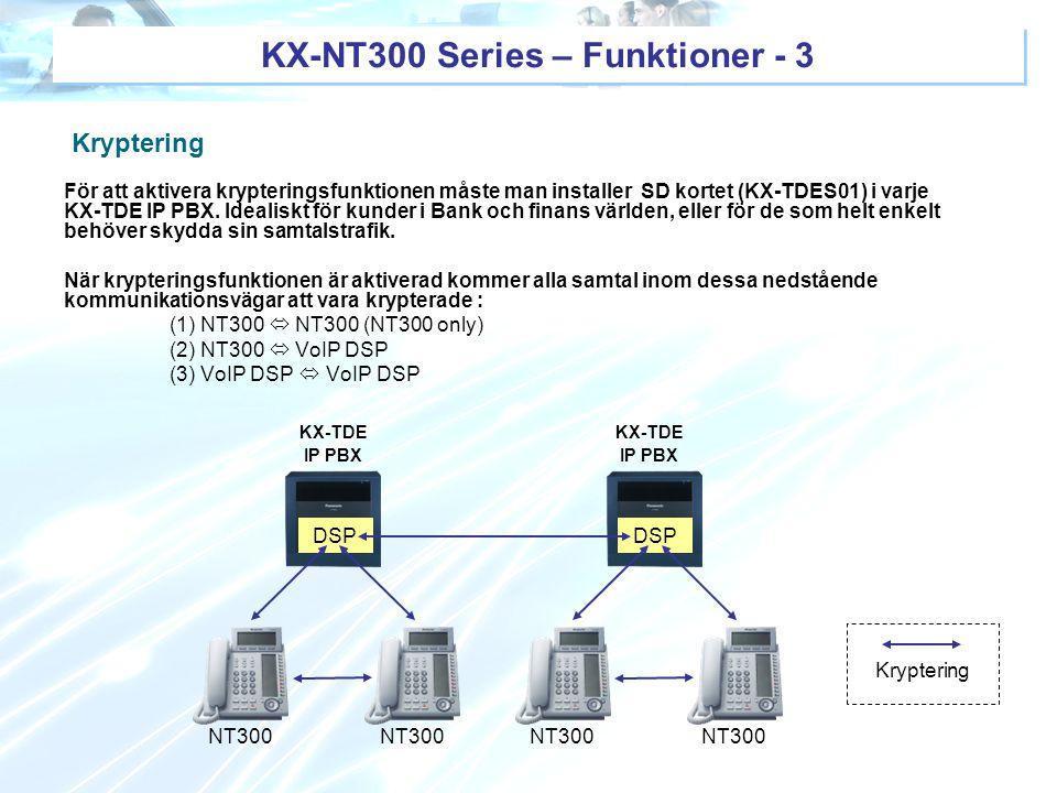 KX-NT300 Series – Funktioner - 3