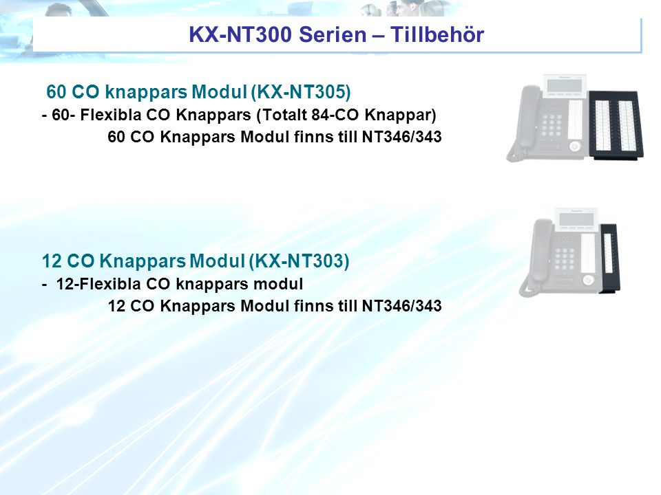 KX-NT300 Serien – Tillbehör