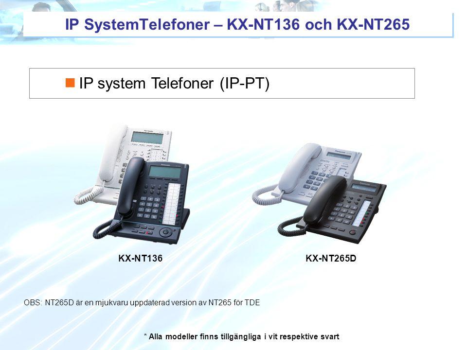 IP SystemTelefoner – KX-NT136 och KX-NT265
