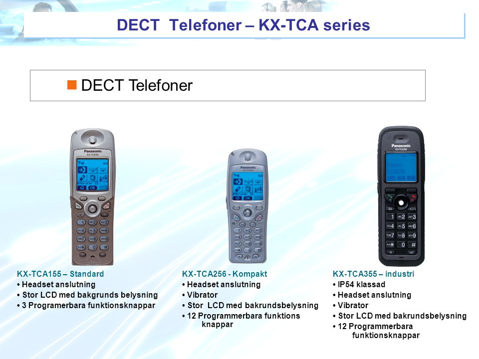 DECT Telefoner – KX-TCA series