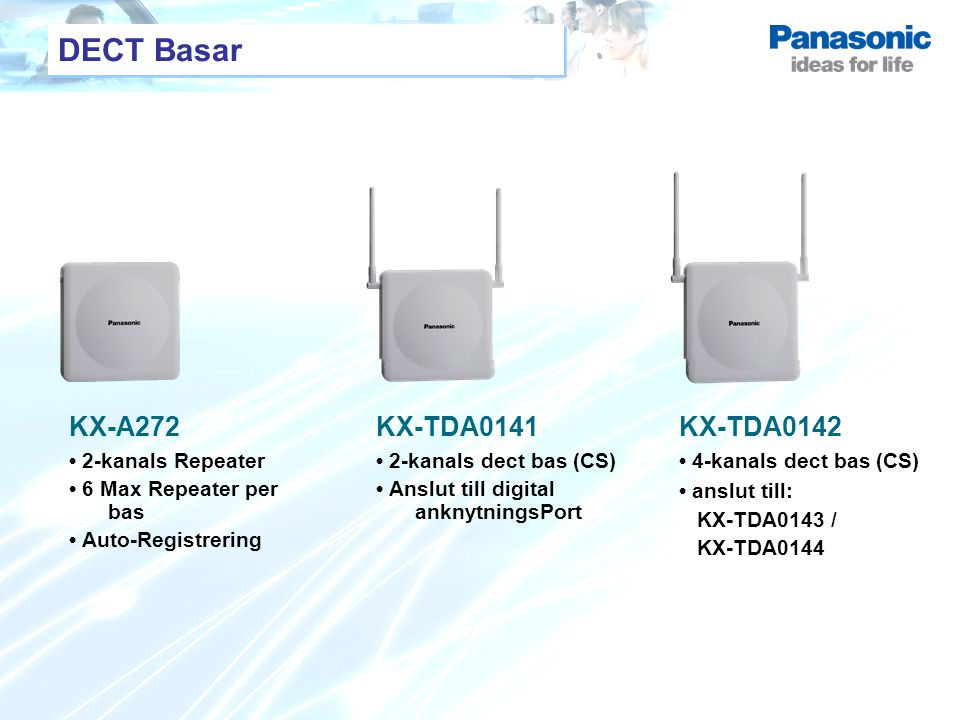 DECT Basar KX-A272 KX-TDA0141 KX-TDA0142 • 2-kanals Repeater