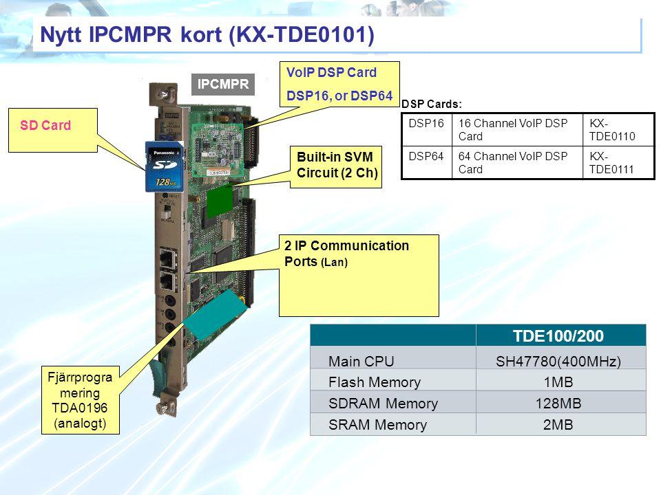Nytt IPCMPR kort (KX-TDE0101)
