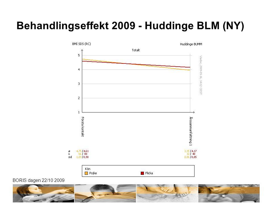 Behandlingseffekt 2009 - Huddinge BLM (NY)