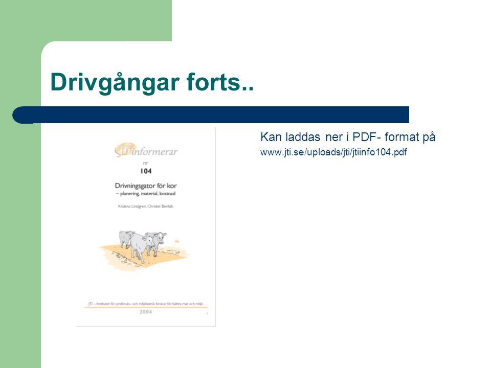 Drivgångar forts.. Kan laddas ner i PDF- format på