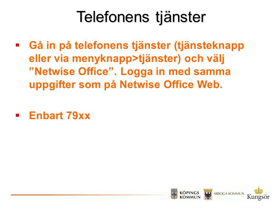 Telefonens tjänster