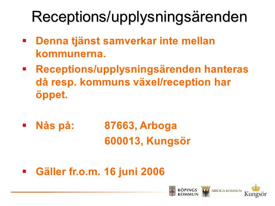 Receptions/upplysningsärenden