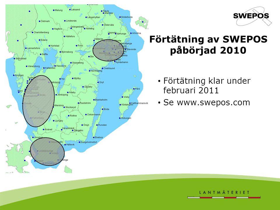 Förtätning av SWEPOS påbörjad 2010