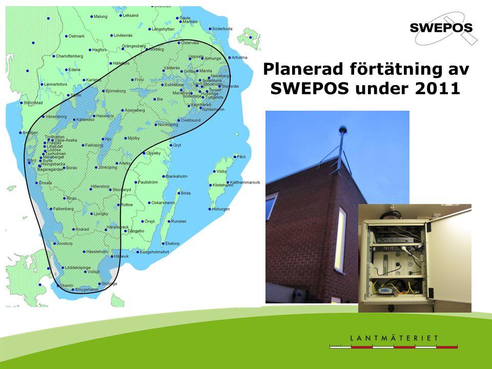Planerad förtätning av SWEPOS under 2011