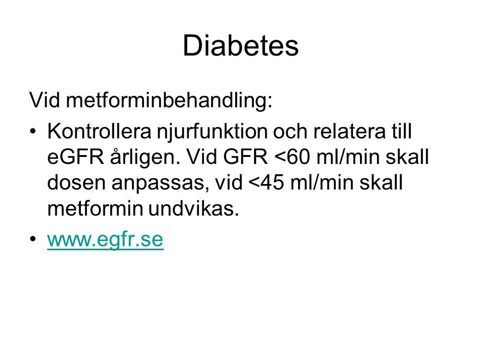 Diabetes Vid metforminbehandling: