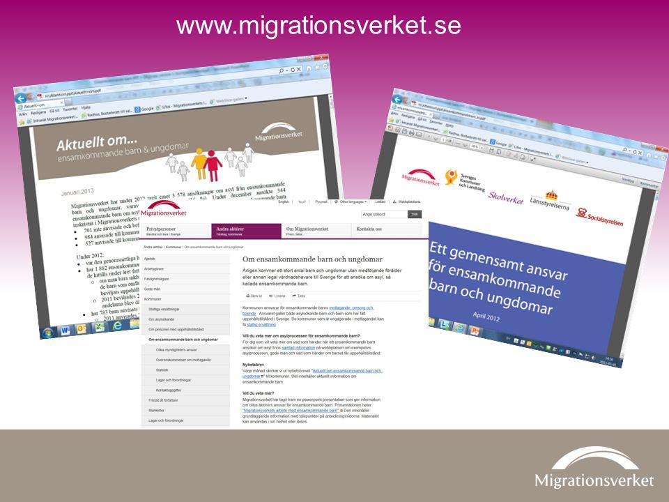 www.migrationsverket.se Ett gemensamt ansvar för ensamkommande barn och ungdomar är en folder som tagits fram gemensamt av: