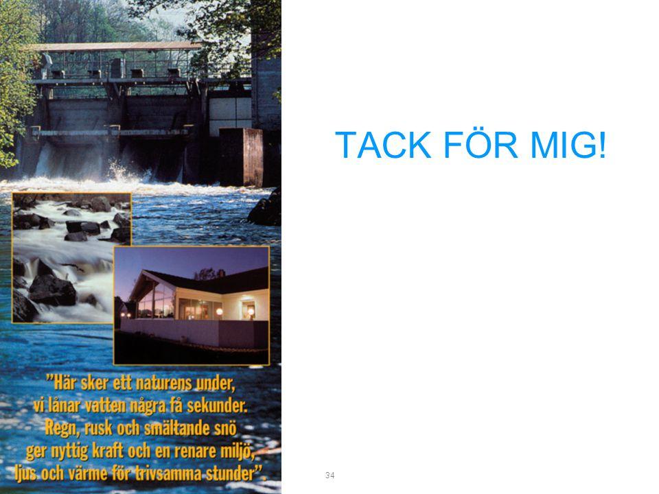 TACK FÖR MIG! Seminarium 06-03-22. Vad är småskalig vattenkraft.