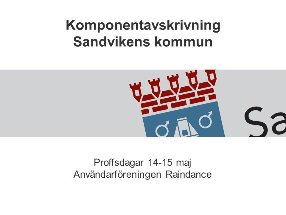Komponentavskrivning Sandvikens kommun