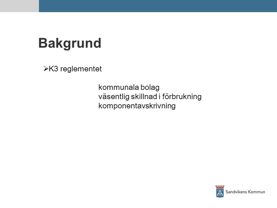 Bakgrund K3 reglementet kommunala bolag