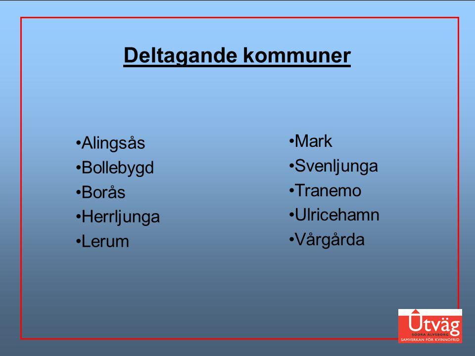 Deltagande kommuner Mark Alingsås Svenljunga Bollebygd Borås Tranemo