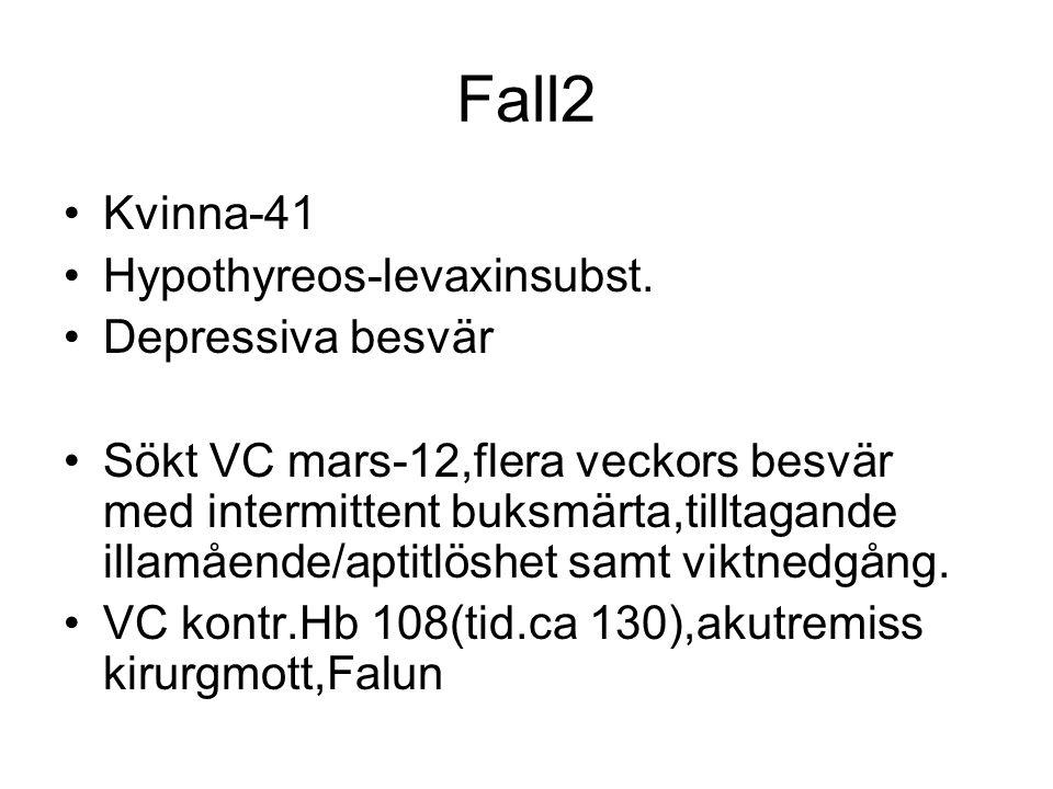 Fall2 Kvinna-41 Hypothyreos-levaxinsubst. Depressiva besvär