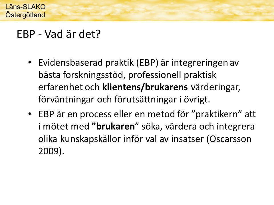 EBP - Vad är det