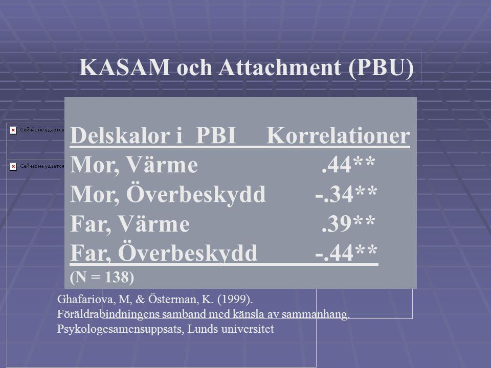 KASAM och Attachment (PBU)