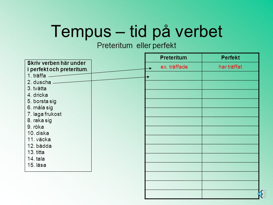 Tempus – tid på verbet Preteritum eller perfekt