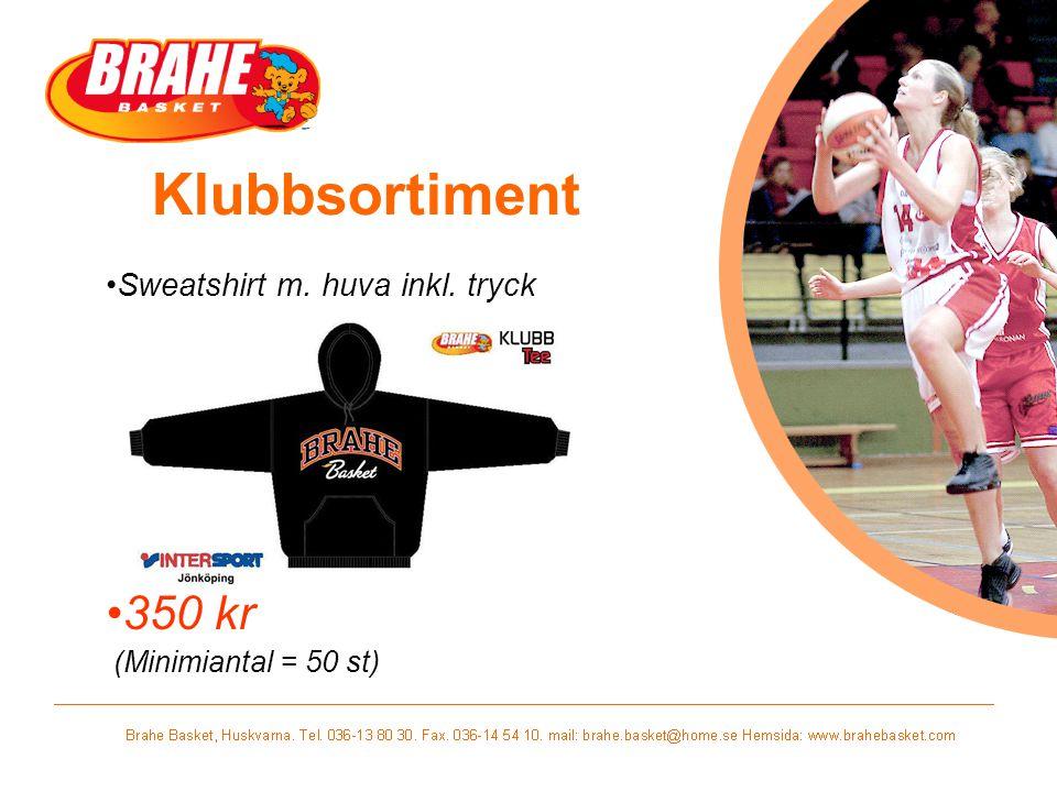 Sweatshirt m. huva inkl. tryck 350 kr (Minimiantal = 50 st)