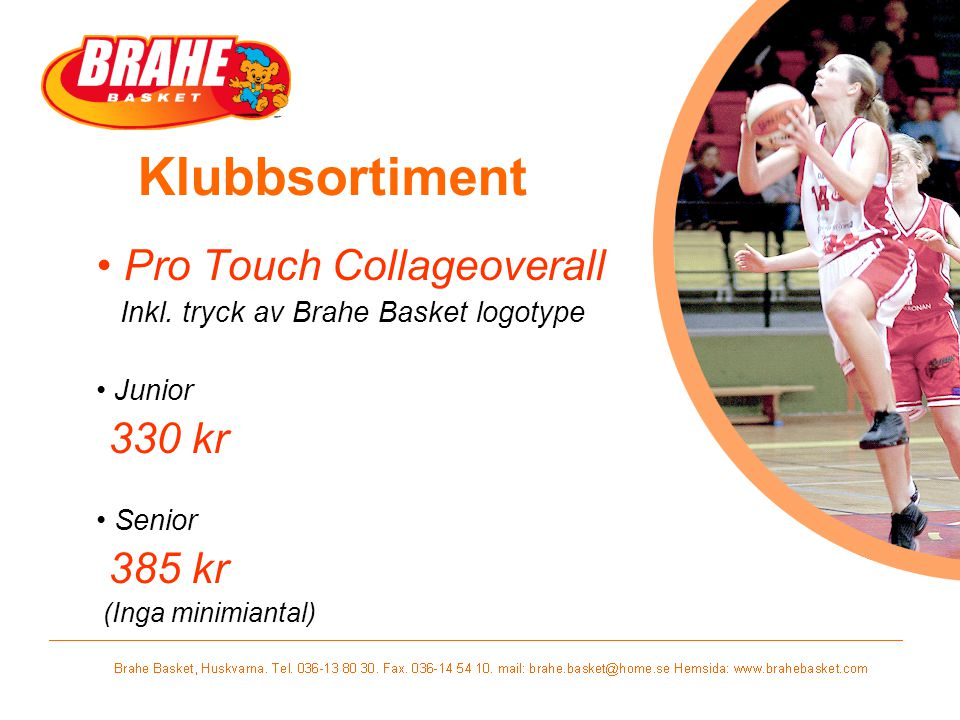 Klubbsortiment Pro Touch Collageoverall 330 kr 385 kr