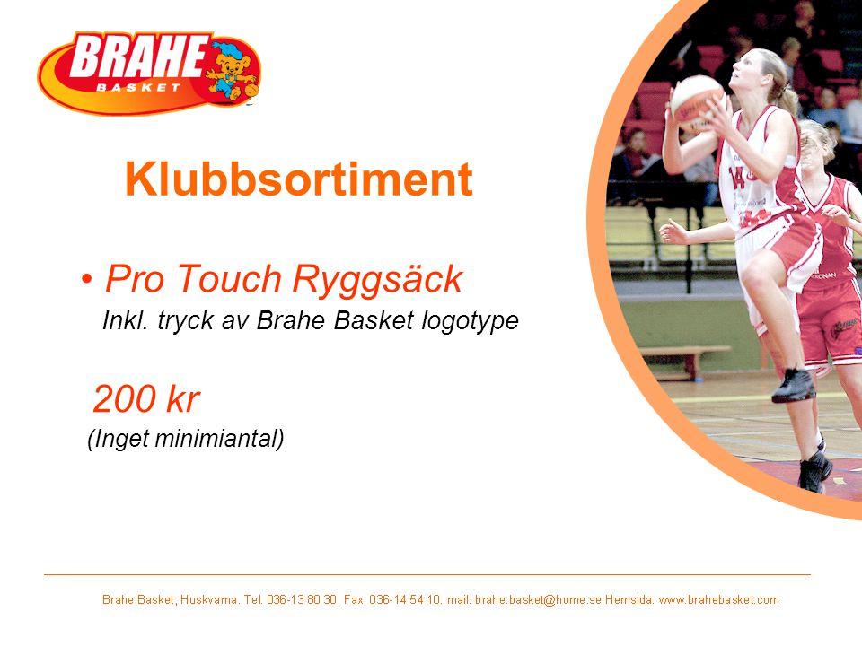 Klubbsortiment Pro Touch Ryggsäck 200 kr