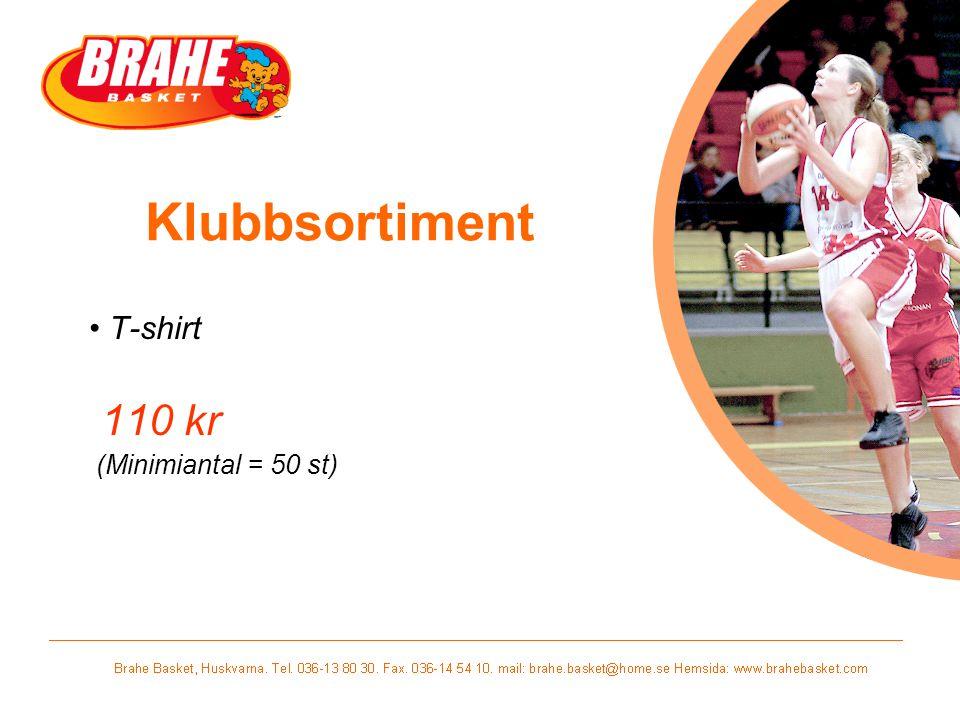 T-shirt 110 kr (Minimiantal = 50 st)