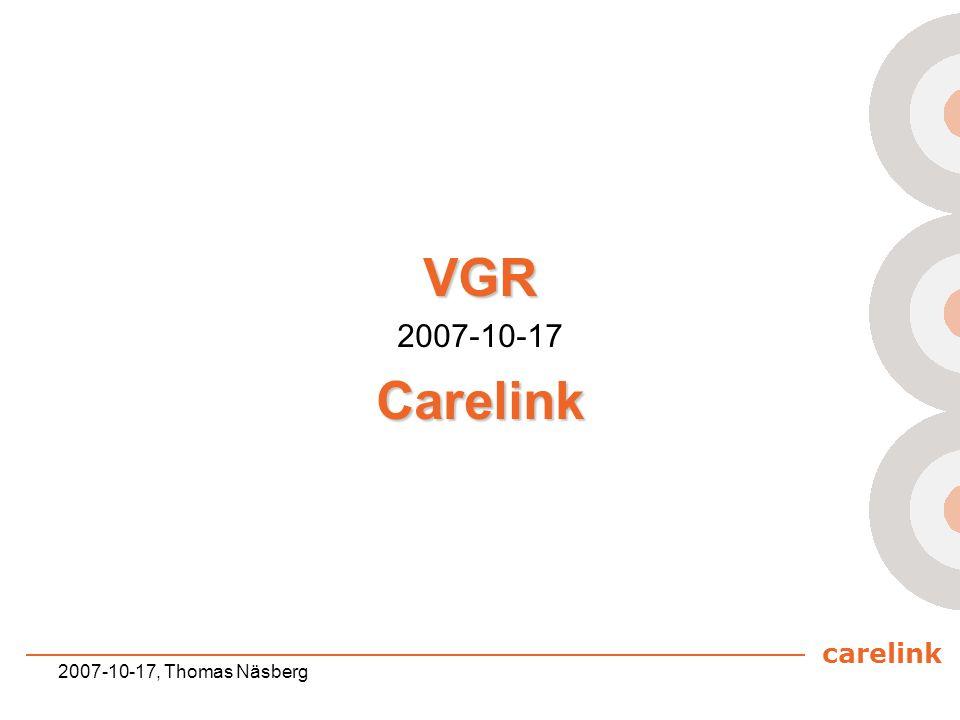 VGR 2007-10-17 Carelink 2007-10-17, Thomas Näsberg