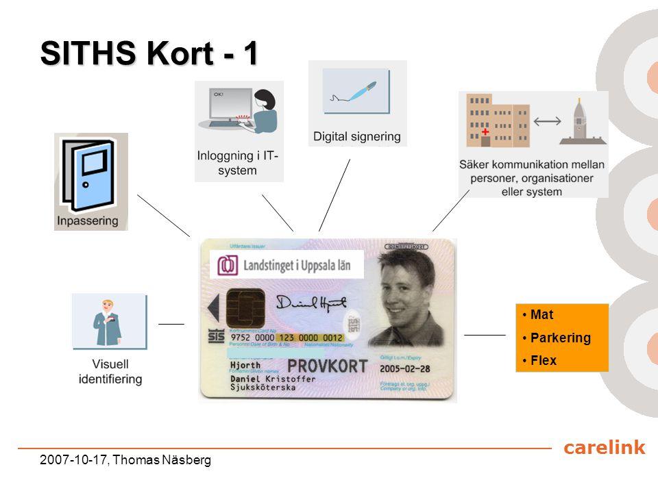 SITHS Kort - 1 Mat Parkering Flex 2007-10-17, Thomas Näsberg