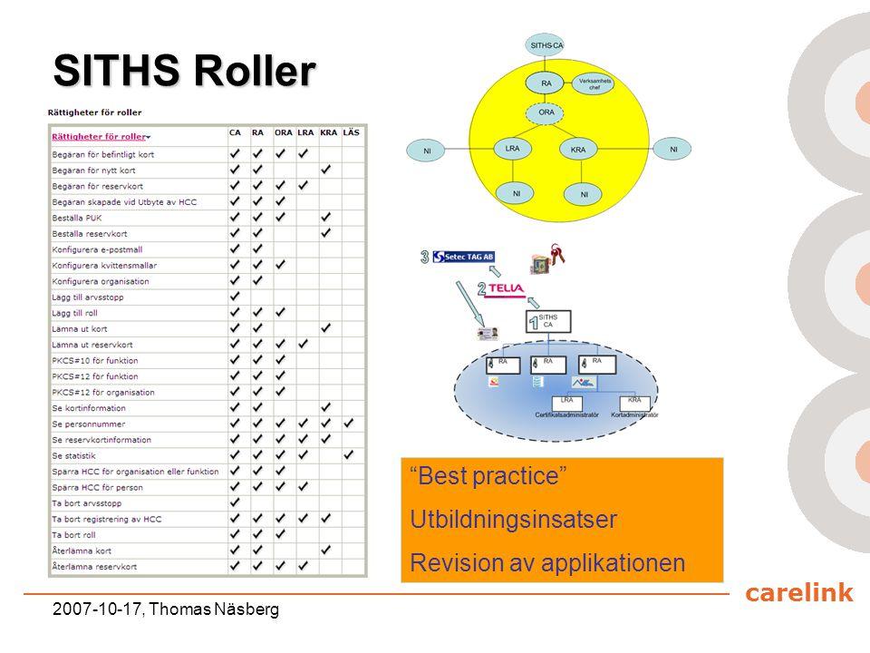 SITHS Roller Best practice Utbildningsinsatser