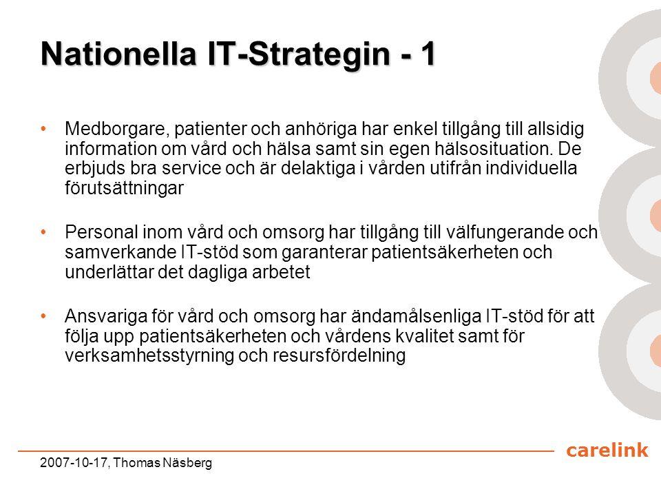 Nationella IT-Strategin - 1