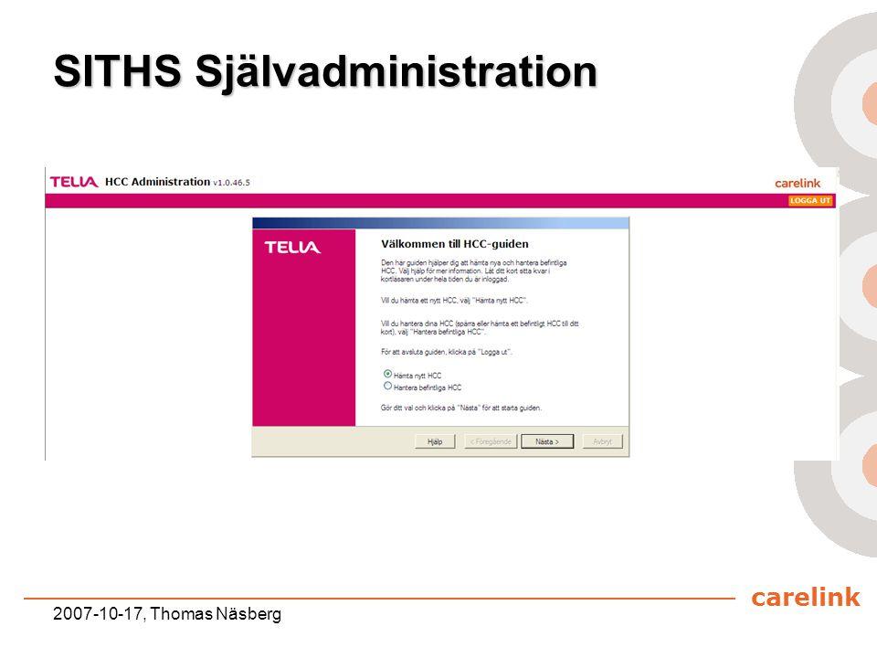 SITHS Självadministration
