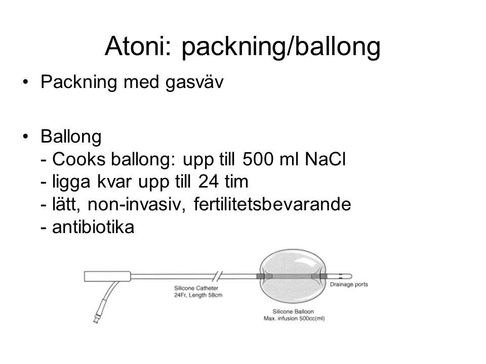 Atoni: packning/ballong