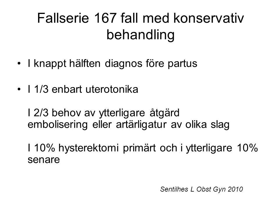 Fallserie 167 fall med konservativ behandling