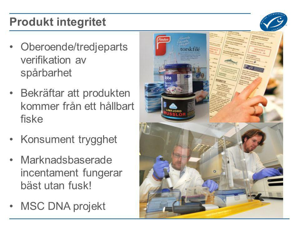 Produkt integritet Oberoende/tredjeparts verifikation av spårbarhet