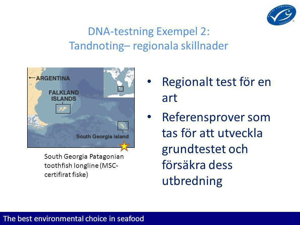 DNA-testning Exempel 2: Tandnoting– regionala skillnader