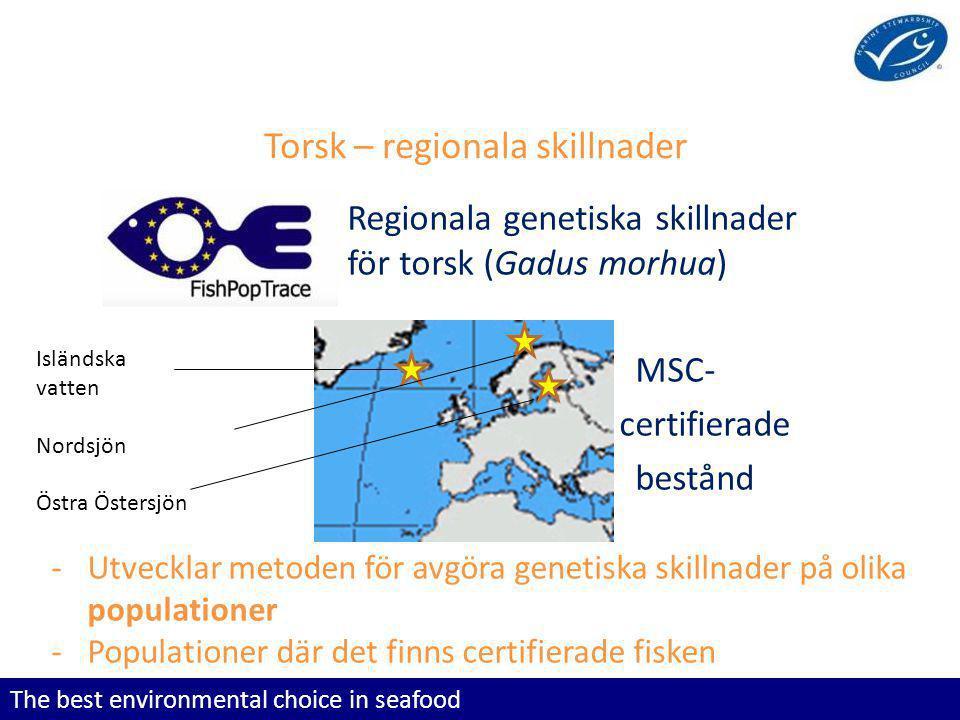 Torsk – regionala skillnader